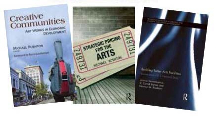 Covers of three scholarly books related to creativity.